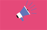megaphone on a pink background