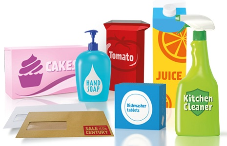 Recycling packaging promotion image