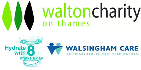 Walton on Thames charity and Walsingham Care logos