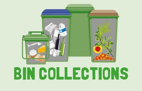 Graphic of bins and bin collections