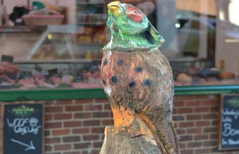 Claygate parade sculpture of a pheasant