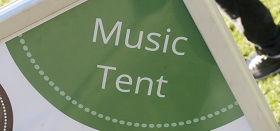 Music tent sign
